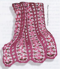 Crochet Pattern ~ PINK LACE FLOWERS AFGHAN ~ Instructions