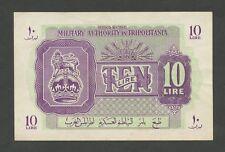 (REGNO UNITO) Autorità Militare TRIPOLITANIA - 10 LIRE 1943-51 (banconote)