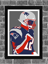 New England Patriots Tom Brady Portrait Sports Print Art 11x17