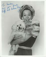 Andrea King & Puff Original Autographed 8x10 Black and White Signed Photo