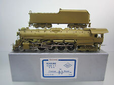 N.J.CUSTOM HO SCALE ST-801 BRASS READING T-1 4-8-4 STEAM ENGINE & TENDER U/P