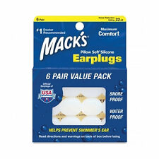 Mack's Pillow Soft Earplugs (6 Pairs) Silicone Ear Plugs, Ear Protection