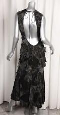 JUNYA WATANABE COMME DES GARCONS Womens Gray Velvet Low Back Long Maxi Dress S