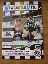 25/10/1989 Newcastle United v West Bromwich Albion [Football League Cup] (Item h