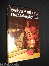 EVELYN ANTHONY: The Malaspiga Exit - 1974-1st - British Thriller Novel, Fiction