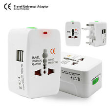 Universal World Wide Travel charger Adapter Plug With 2 USB Charging Port