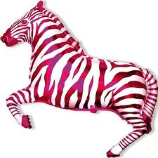 PINK ZEBRA SUPERSHAPE FOIL MYLAR BALLOON ~ Birthday Party Supplies Animal Prints