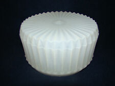 "White Lamp Shade Frosted Ceiling Fixture Canopy Vintage 6"" DISH Flush Mount #18"