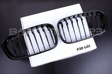 NEW GLOSS BLACK FRONT KIDNEY GRILLS  BMW F20 F21 LCI 1 SERIES 114d 116 118d M135