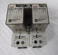 ALLEN-BRADLEY 700-HC24Z24-4 SER.D RELAY W/700-HN104 SER.D BASE(LOT OF 2)