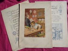 1860 ENFANTINA / CHANSON DES JOUJOUX Le jeu de patience + partition & chanson
