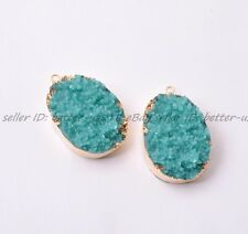 Wholesale Nugget Sliced Resin Necklaces & Pendants Charms Gold 35X32MM Jewelry