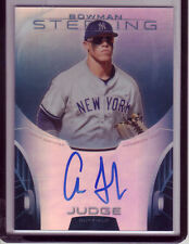AARON JUDGE 2013 Bowman Sterling Prospect Blue Refractor REF 15/25 AUTO RARE RC
