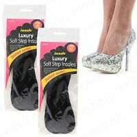 4 Pairs Black~LUXURY~Insole All Sizes Shoe Boot Slipper Heel Inner Sole Work Out