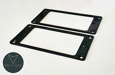 2x New Metal Humbucker Pickup Mounting Ring Surround (BLACK)