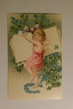 Reproduction Victorian Angels Cupids Valentine Flowers -  Postcard #3