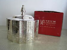 Museum Re-Creations Godinger Silver Plate Jewelry Trinket Box 1991 NEW IN BOX