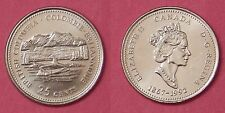 Brilliant Uncirculated 1992 Canada British Columbia 25 Cents From Mint's Roll