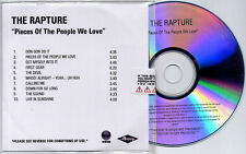 THE RAPTURE Pieces Of The People We Love UK numbered 10-trk promo CD