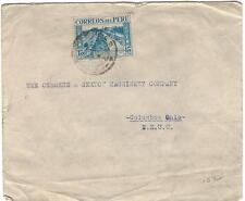 Peru 1940's Cover to USA