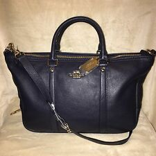NWT Coach Central Satchel Midnight Blue F55662