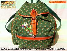 ✿ NAJ OLEARI autentico VINTAGE borsa ZAINO zainetto Backpack Bag 1991 CARTELLINO