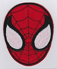 Spider-Man Superhero Face Embroidered Iron On / Sew On Patch