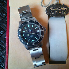 NOS Vintage Philip Caribbean Quartz Professional 2000 Divers Watch w/Orig Box