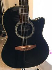 Ovation Acoustic / Electric RH Guitar - Ultra Deluxe - Black