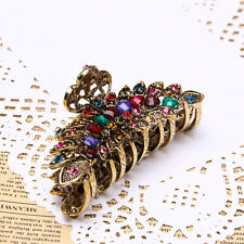 Lady Acrylic Bronze Multi Rhinestone Hair Clip Claw