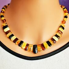 Abult ambre collier, multicolore baltic amber collier... baltic amber