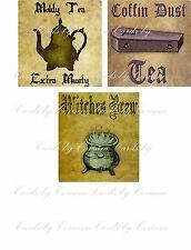 Vintage inspired Halloween assorted tea bag envelope party favor set 6