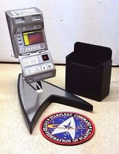 STARFLEET TR-590 MARK IX TRICORDER Deluxe Prop Replica w Holster & Stand w Patch