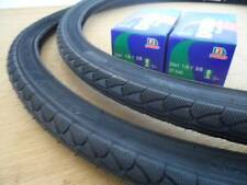 24x1 3/8 Pair of Black Bike Tires + 2 Tubes bicycle *New