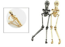 R184 Betsey Johnson Exquisite Gold Skull Halloween Party Ring US