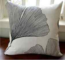 "Handmade 20"" Pillow case made from Marimekko Ginkgo satin cotton fabric, Finland"