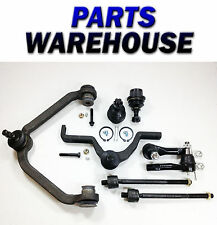 8Pc Kit 2 Upper Control Arms Bushings 2 Lower Ball Joints Rack Ends 1Yr Warranty