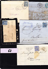 Lettres & courriers &CPA ,affranchissements marques postales à étudier  lot  62