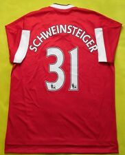 5+/5 MANCHESTER UNITED 2015~2016 HOME FOOTBALL JERSEY SHIRT #31 SCHWEINSTEIGER
