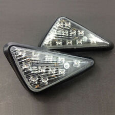 2X Motorcycle Clear Flush Mount Turn Signal  LED Lamp Amber Light Indicator New