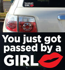 Race Car Truck Turbo Window Personality You Just Got Passed A Girl Decal Sticker