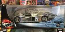 2000 Hot Wheels Collectibles Silver CADILLAC LMP 1/18 Toshiba Race Car NIB