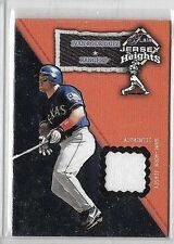 IVAN RODRIGUEZ 2002 FLAIR JERSEY HEIGHTS GAME USED JERSEY ~ TEXAS