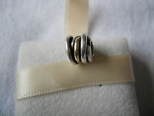 Genuine PANDORA sterling silver and 14ct Gold Ring Charm Bead 790153