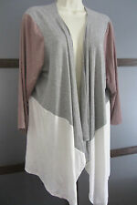 St Tropez West Duster Open Front Color Block Sz 1X XL