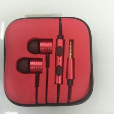 3.5mm Piston In-Ear Stereo Earbuds Earphone Headset Headphone For Cell Phone Red