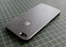iPhone 4/4S/5/5S Aufkleber/Sticker mit 3D Struktur. Leder schwarz, leather black