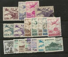 Korea    nice  lot of   used   airmail   stamps       MS0917