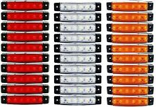 30 pcs 12V 6 LED SMD WHITE YELLOW RED SIDE MARKER LIGHT TRUCK TRAILER BUS HGV