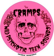 The Cramps psychotic sounds circular vinyl sticker 12cm professional print